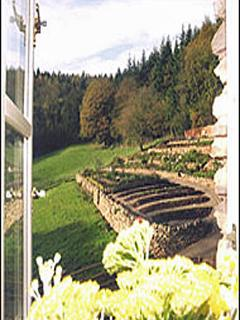 view over the kitchen gardens