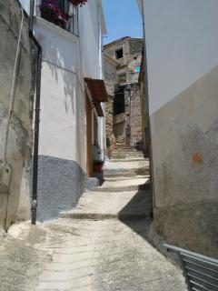 A windy street in Monasterace village
