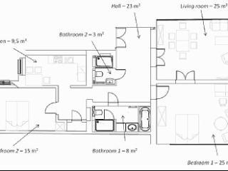 Floorplan of the flat
