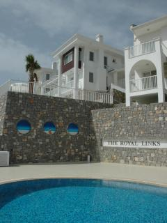 Villa seen from communal pool area
