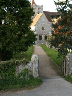 A view of Boxgrove Priory from one of the bedrooms