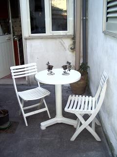 The patio courtyard