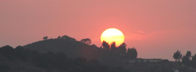 Sunset over The Serra do Caldeirao