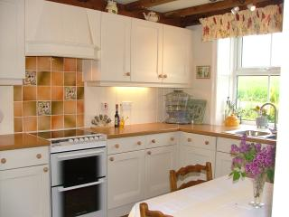 Brock Cottage`s fitted country style kitchen