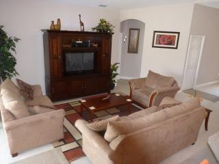Lounge with Comfortable Seating, 42'HD TV, SAT TV with DVR,HD DVD Player.