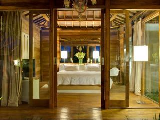 The teak master bedroom