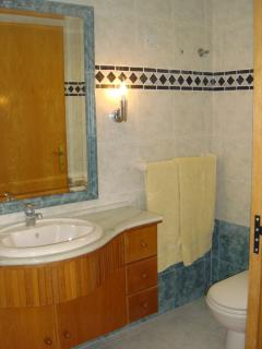 En-suite bathroom with double shower. Main bedroom