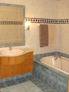 main bathroom with separate bath