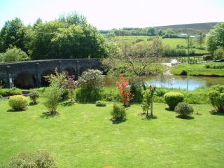 The view of Bridge Cottage garden from your bedroom window