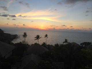 Beautiful sunrise - viewed from our pool terrace!