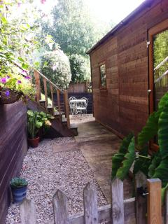 Private garden.