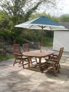 Rear Patio Dining Area