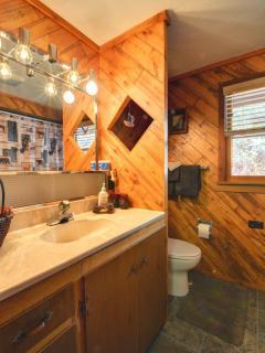 Rustic Bathroom with tub