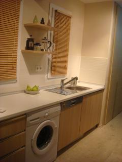 Kitchen Facilities including Washing Machine, Dishwasher and Large Fridgefreezer