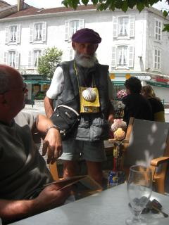 An experienced pilgrim (walker) in Saint Palais