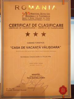 Certificate of classification