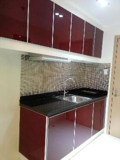 Upgraded open kitchen with an induction cooker