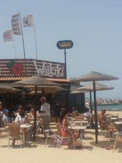 wikki beach bar and restaurant 5 min walk from apartment
