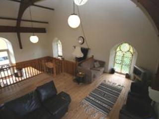 Open plan, multi-level living area