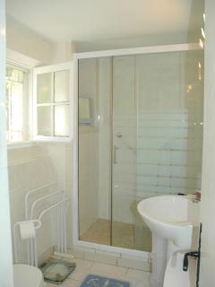 Ensuite shower room with large double shower