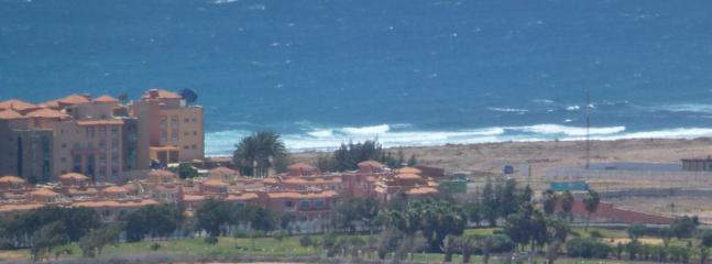 A view of the apartment and the surrounding area from the Hills above Caleta