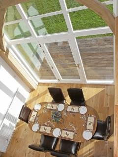 Tudor Holiday Cottage View from First Floor Bridge