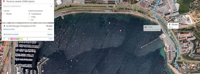 Qui o l'appartamento, a 10 minuti a piedi dalla spiaggia delle bugie del Lazzaretto / Corsica Costa Azzurra