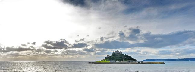 St. Michael's Mount, seen from the patio