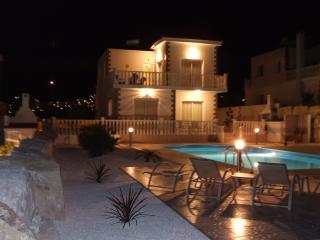 Rear View of Villa at Night