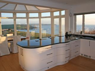 Kitchen / Dining area with views of Bigbury Bay.
