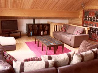 Modern, spacious living accommodation...including really comfortable sofas!