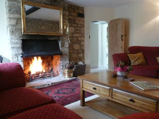 Comfortable lounge with sumptuous sofa's & cosy log fire
