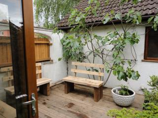 Small decked garden accessed from Lounge