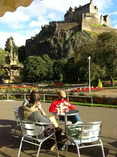 Coffee in beautiful Princes Street Gardens, only a 10 minute stroll away.
