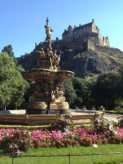 The world famous Princes Street gardens just a few minutes walk away