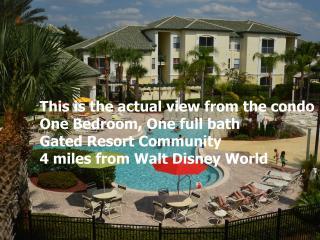 Poolside Zen themed 1BR condo near Disney World, Kissimmee