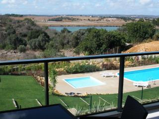 all suites: beautiful view from west terrace to pool & Estuary