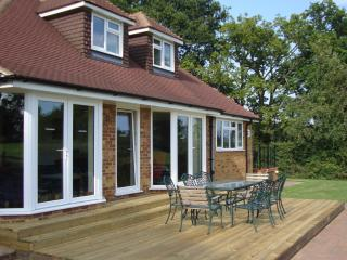 Large outside decking area for sunny days and al fresco evening food and drinks