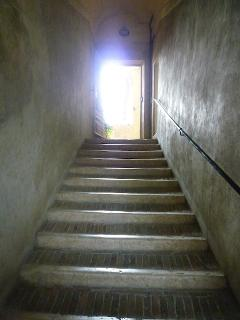 staircase with low wide steps