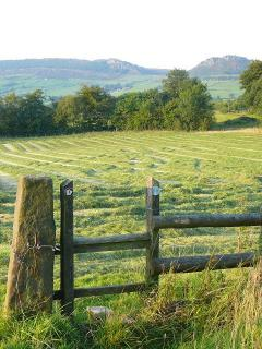 Doorstep footpaths from the holiday cottages - with great view of The Roaches and the Peak District