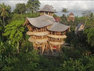Extraordinary 5 floor Bamboo Palace, Ayung River, Denpasar