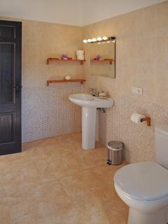 Almond suite bathroom