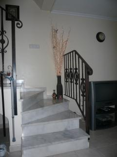 One of the two marble staircases