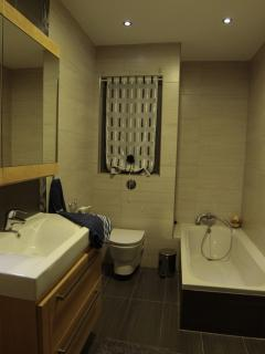 Main Bathroom with shower and bath