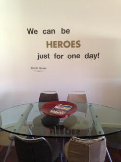 We can be heroes, just for one day!