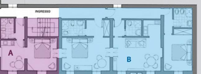 Plan Floor units A+B