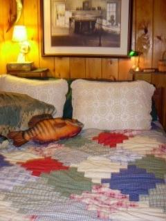 Fish Motif Bedroom #1 sleeps 2