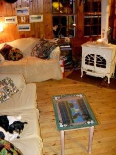Maine Lakes Region Living Room Seats 5 comfortably