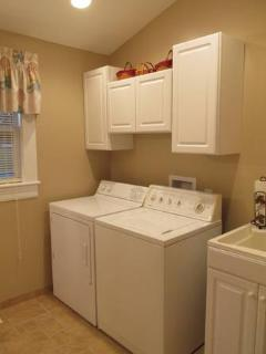 Laundry Room / Master Bath with large Shower.