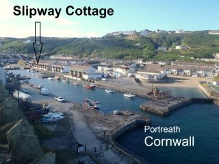 Slipway Cottage Portreath on Cornwall North Coast